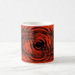 Red and Black Ripple Mug