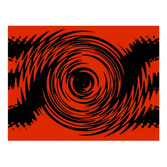 Red and Black Ripple Postcard