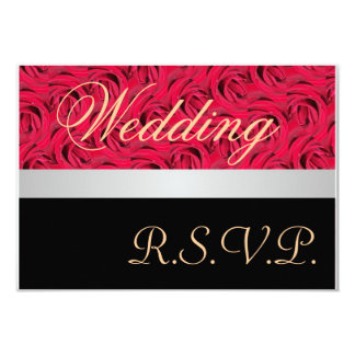 Red And Black Roses Wedding RSVP Invitation
