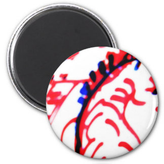 Red and Black Running Zebra 6 Cm Round Magnet