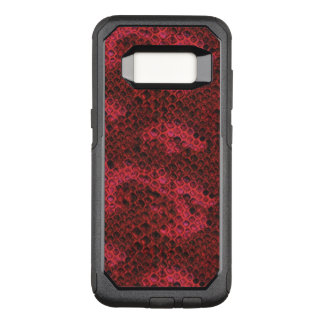Red and Black Snake Skin OtterBox Commuter Samsung Galaxy S8 Case