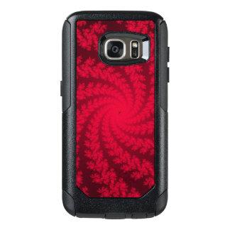 Red and Black Spiral Fractal Otterbox Case