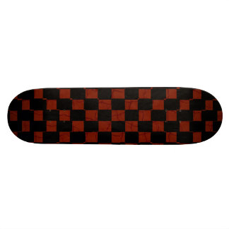 red and black square design skate deck