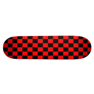 red and black square design custom skate board