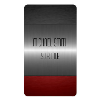 Red and Black Stainless Steel Metal Pack Of Standard Business Cards