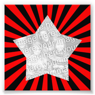 Red and Black Starburst Frame Photo