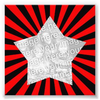 Red and Black Starburst Frame Photo