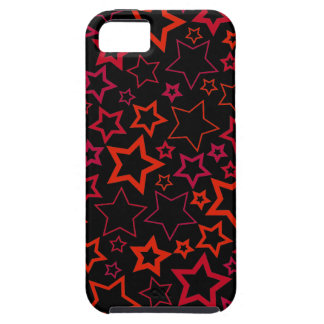 Red and Black Stars Case For The iPhone 5