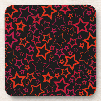 Red and Black Stars Coasters