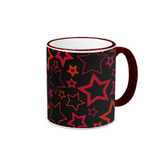 Red and Black Stars Coffee Mug