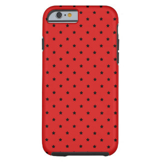 Red and Black Stars Pattern. Tough iPhone 6 Case