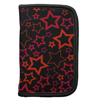 Red and Black Stars Folio Planners