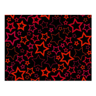 Red and Black Stars Postcard