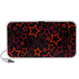 Red and Black Stars Laptop Speakers