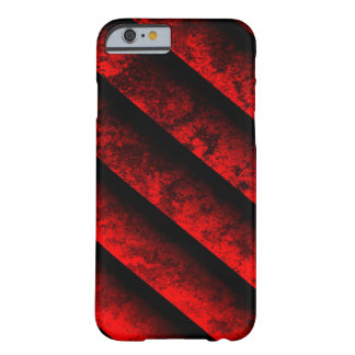 Red and Black Striped Barely There iPhone 6 Case