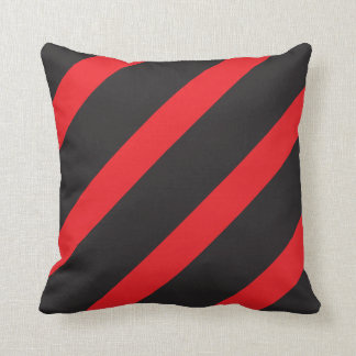 Red and Black Striped Cushion