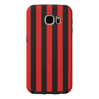 Red and black stripes ,  Milano soccer team, Italy Samsung Galaxy S6 Cases