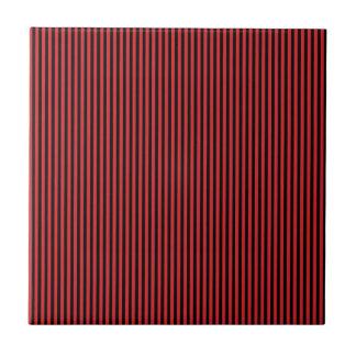 Red and Black Stripes Tile
