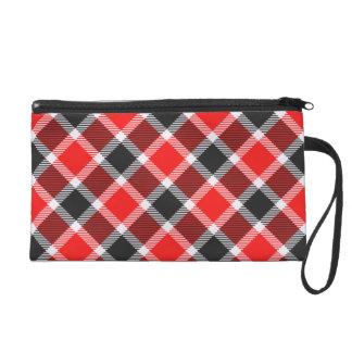 Red And Black Tartan Wrist Bag