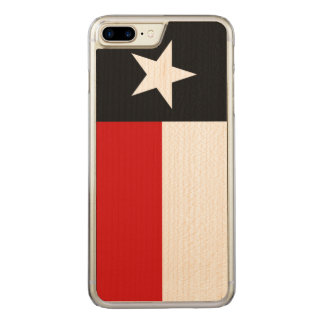 Red and Black Texas Flag Carved iPhone 7 Plus Case