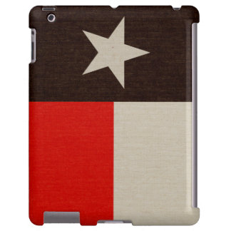 Red and Black Texas Flag on Fabric iPad Case