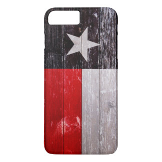 Red and Black Texas Flag Painted Old Wood iPhone 7 Plus Case