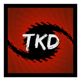 Red and Black TKD Hurricane Poster Print