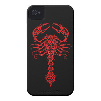 Red and Black Tribal Scorpion iPhone 4 Covers