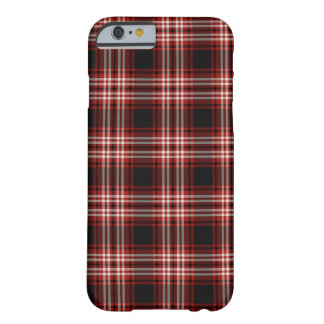Red and Black Tweedside Scotland District Tartan Barely There iPhone 6 Case