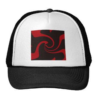 Red and Black Twist Trucker Hat