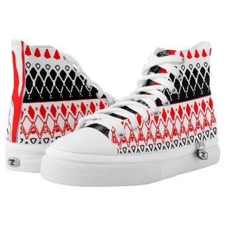 Red and Black V High Tops