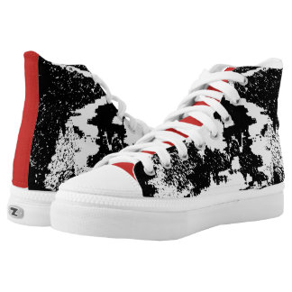 Red and Black VII High Tops