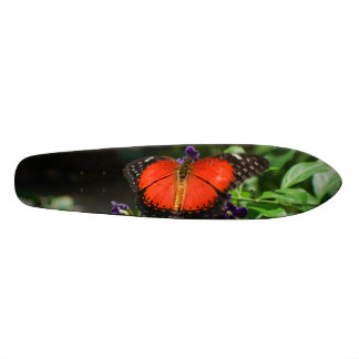 Red and Black Winged Butterfly Custom Skateboard