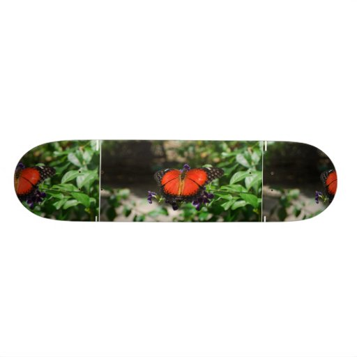 Red and Black Winged Butterfly Custom Skate Board