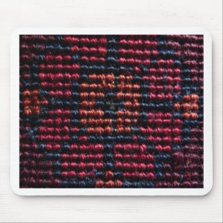 Red and Black Woven Carpet Pattern Mouse Pads