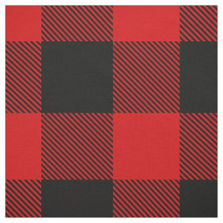 Red and Black XXL Buffalo Check Plaid Tartan Fabric