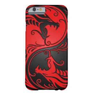 Red and Black Yin Yang Dragons Barely There iPhone 6 Case