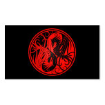 Red and Black Yin Yang Phoenix Pack Of Standard Business Cards