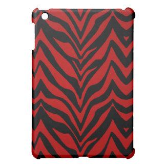 Red and Black Zebra Print iPad Mini Covers