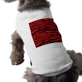 Red and Black Zebra Stripes Dog T-shirt