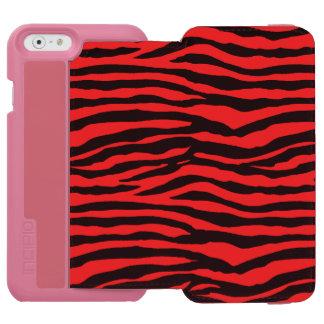 Red and Black Zebra Stripes Incipio Watson™ iPhone 6 Wallet Case