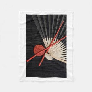 Red and Black Zen Fleece Blanket