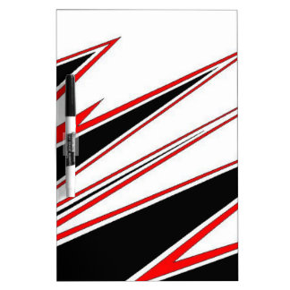 Red and Black zig-zag Design from AOM Dry Erase Whiteboard