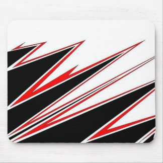 Red and Black zig-zag Design from AOM Mouse Pad