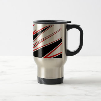 Red and Black zig-zag Design from AOM Stainless Steel Travel Mug