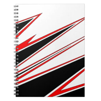 Red and Black zig-zag Design from AOM Notebooks