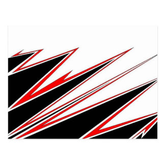 Red and Black zig-zag Design from AOM Postcard