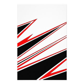 Red and Black zig-zag Design from AOM Stationery Design