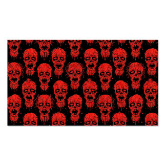 Red and Black Zombie Apocalypse Pattern Pack Of Standard Business Cards