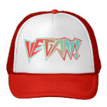 Red and Blue 1980s Rocker Vegan Hats